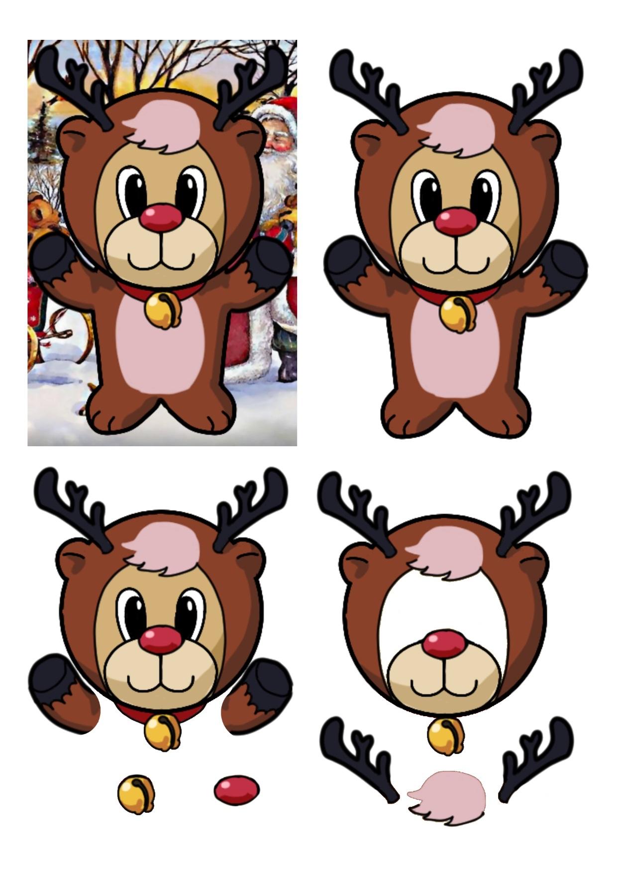 Christmas Bears Rudolf.