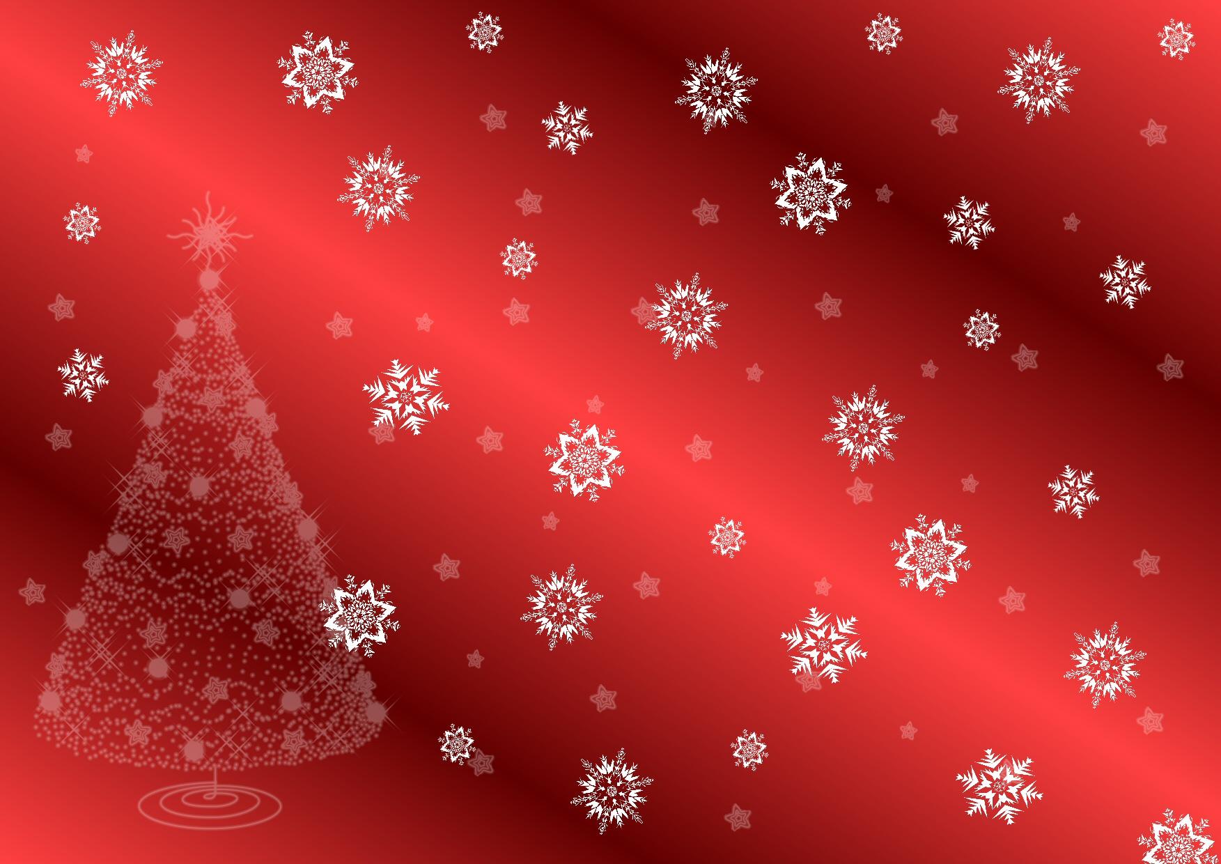 Christmas Tree and Snowflakes.
