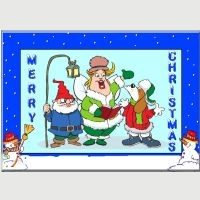 Carol Singers Christmas Card.