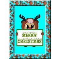 Reindeer Christmas Card.