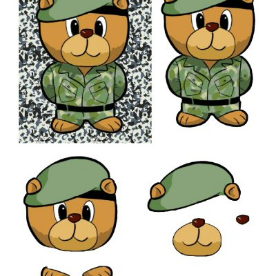 5x7_army_bear_decoupage