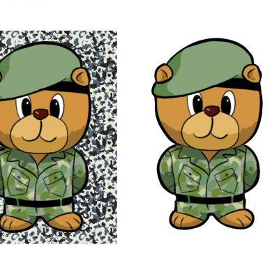 a5_army_bear_decoupage_a