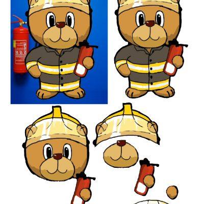 5x7_fireman_bear_decoupage