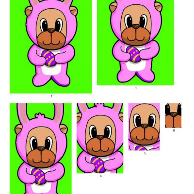 easter_bear_pyramid_paper_pink_04