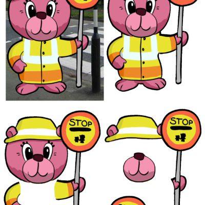 5x7_lollipop_bear_decoupage