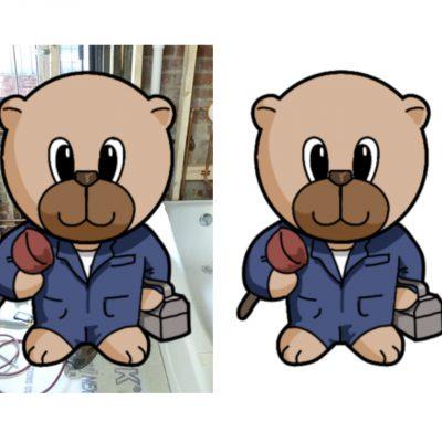 plumber_bear_decoupage_med_a