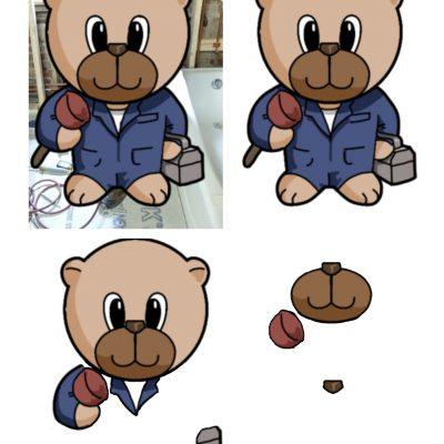 plumber_bear_decoupage_sm