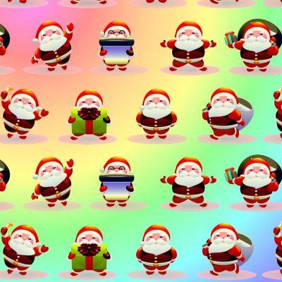 Cartoon Santa Christmas Papers.
