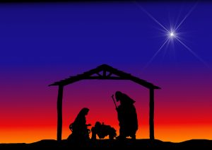 Christmas Silhouettes Nativity.