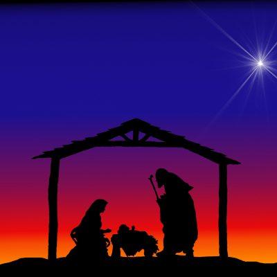 Christmas Silhouettes Nativity.