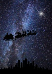 christmas-silhouettes-sleigh-a4