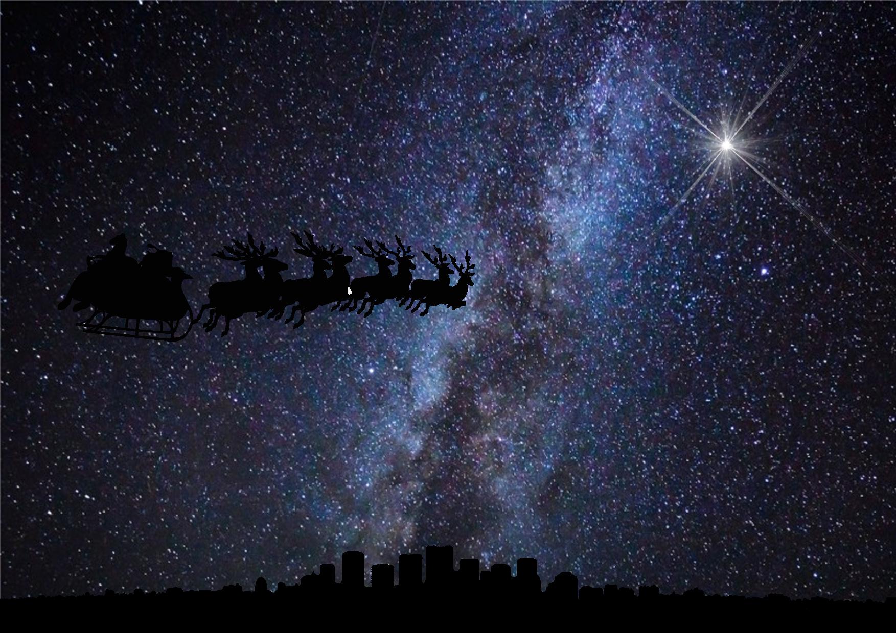 Christmas Silhouettes Sleigh.