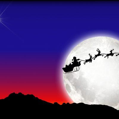 santa-and-sleigh-a4-landscape-01