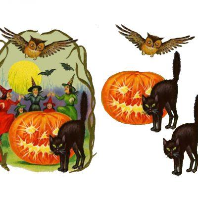 Halloween Decoupage Sheets.