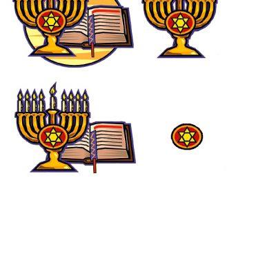 Hanukkah Decoupage.