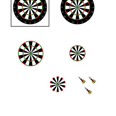 Dartboard_and_Darts_Decoupage