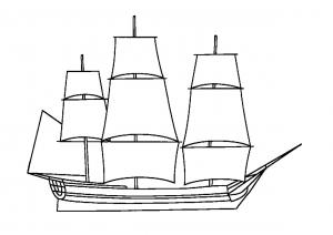 Sailing Ship Digital Stamps.