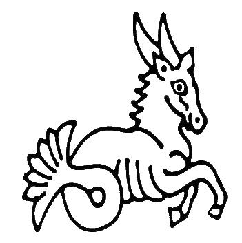 Capricorn digi stamp.
