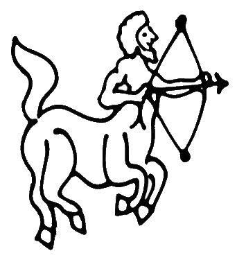 Sagittarius digi stamp.