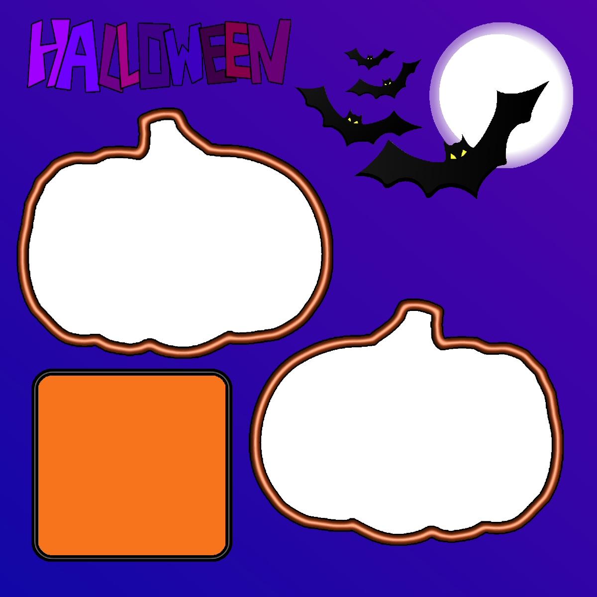 Halloween Scrap Booking Layouts.