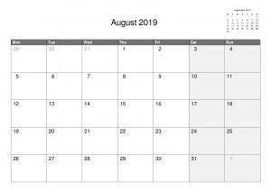 Free 2019 Calendars.