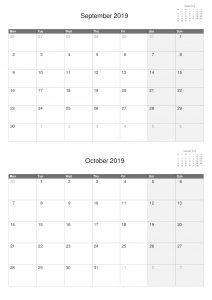2018 A4 Calendars Double Months.