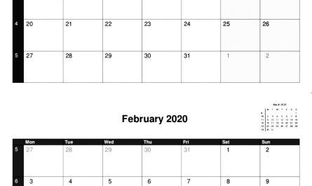 2020 A4 Calendars Double Months.