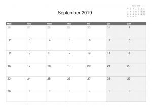 A5 Single Month Calendars