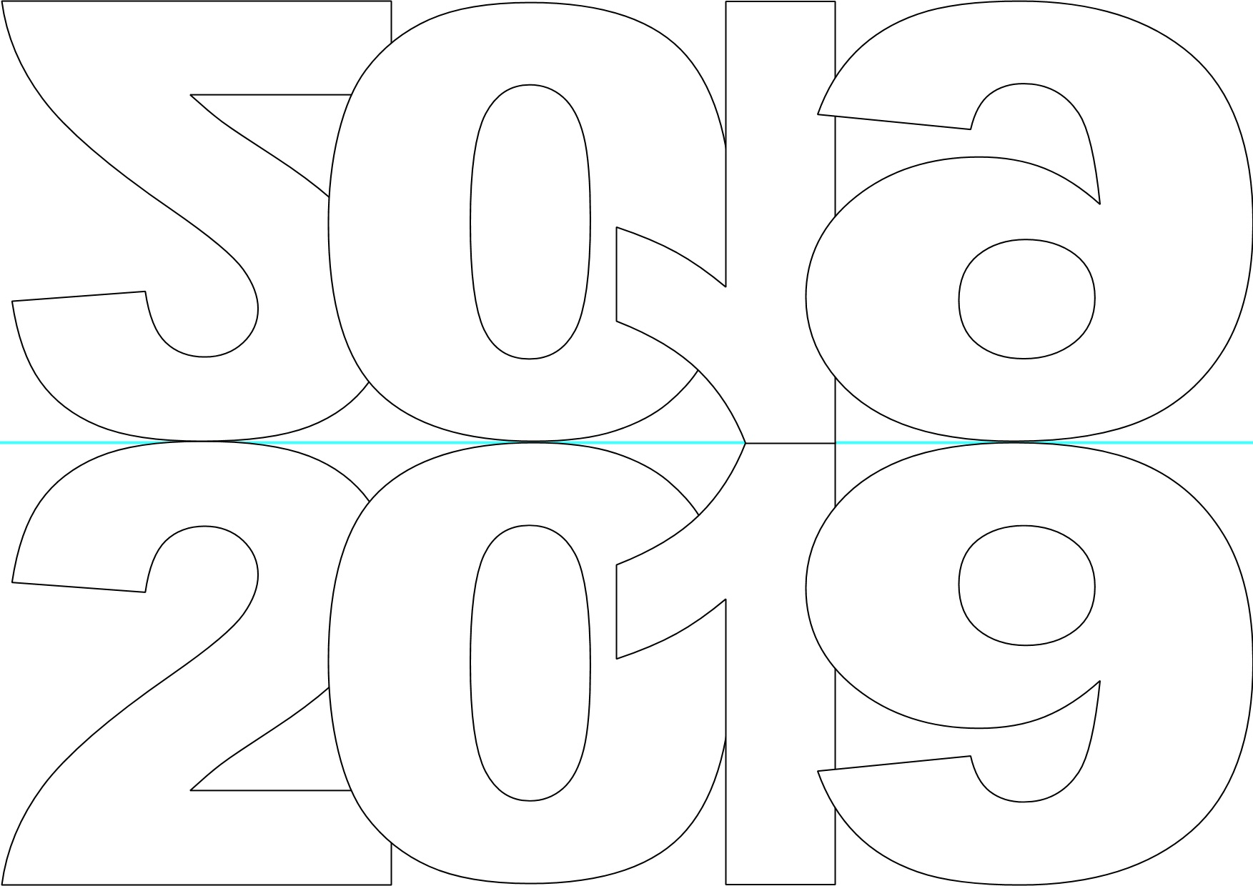 New Year Card Templates (2019).