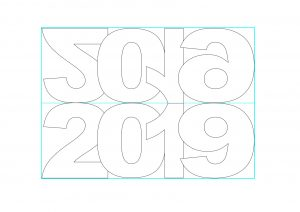 New Year Card Templates ( 2019 ).
