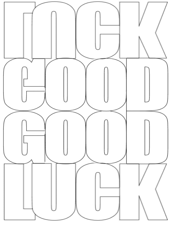 goodluck wording card templates.