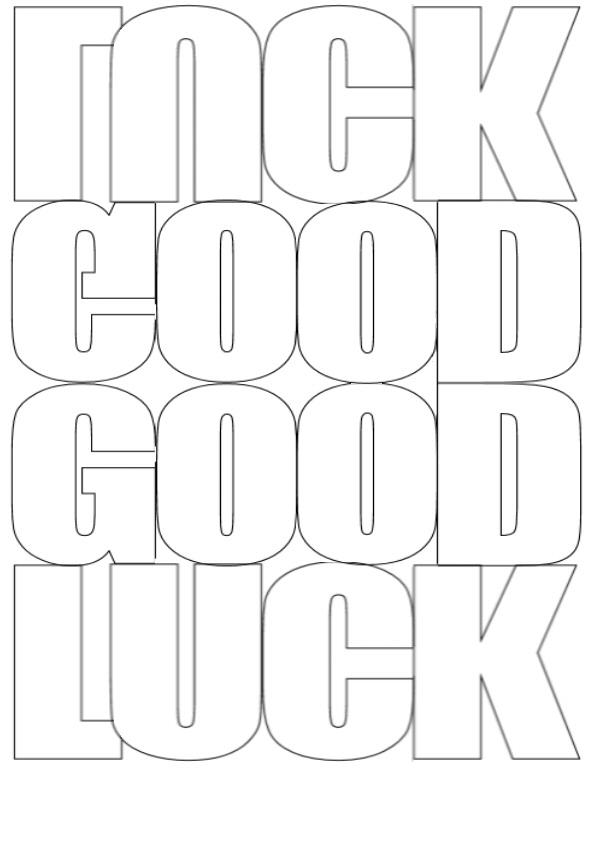 goodluck wording card templates.