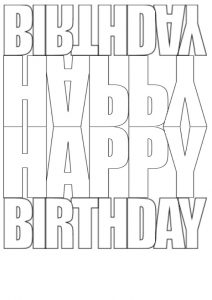 Birthday Card Template.