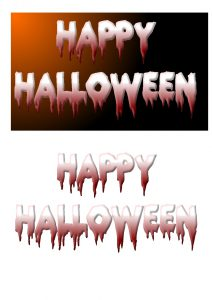 Halloween Toppers.
